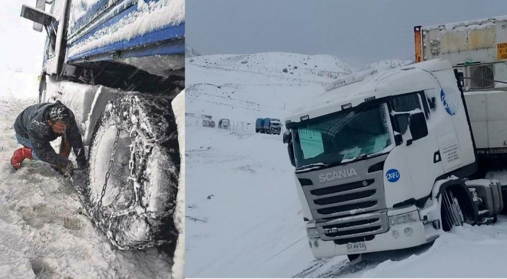 Caminhoneiros do Mercosul, a luta diária contra o frio e o gelo