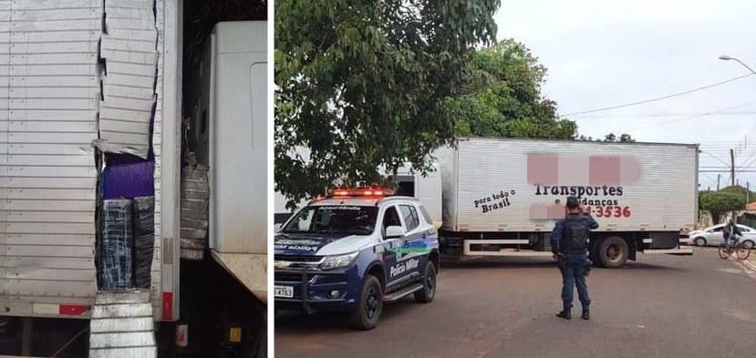 Frete de R$ 100 mil caminhoneiro é preso com 1,7 ton de maconha em caminhão de mudança