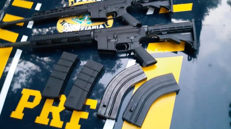Caminhoneiro é detido com dois fuzis calibre 5,56mm na BR-101