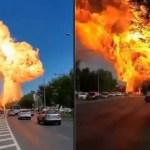 Vídeos mostram momento da explosão em posto de combustíveis na Rússia