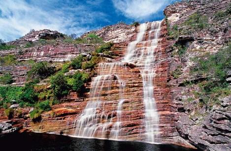 A cachoeira Bom Jardim FOTO: Reprodução/Venturas  