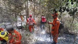 Fogo na região do Pico do Barbado - FOTO Corpo de Bombeiros - PMBA