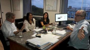 Reunião na Serin com a prefeita Guilma, o deputado Zé Neto e o secretário Josias Gomes | FOTO: Divulgação |