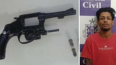 Photo of Chapada: Homem é flagrado com revólver e munições no município de Jacobina