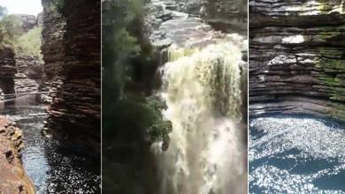 Photo of #Ibicoara: Cachoeira do Buracão com grande volume de água é flagrada em vídeo; veja aqui