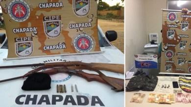 Photo of #Bahia: Cipe-Chapada apreende armas e drogas nas cidades de Ipupiara e Milagres