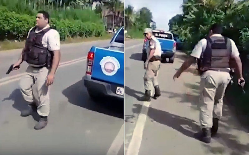 #Bahia: Manifestante é ferido na perna por arma de fogo na BR-101; policial militar foi autor do disparo