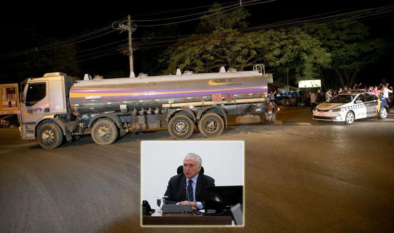 Temer entra com ação no STF para desbloquear rodovias do país; Exército escolta caminhão-tanque até refinaria
