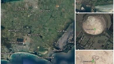 Photo of #Mundo: Satélite captura imagem inusitada em fundo de lago seco na Austrália