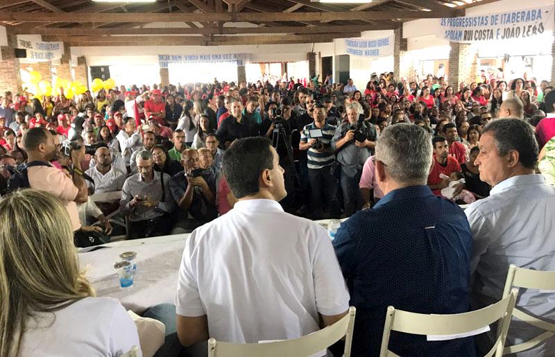 Chapada: Evento do governador em Itaberaba é criticado por equipe não deixar imprensa trabalhar