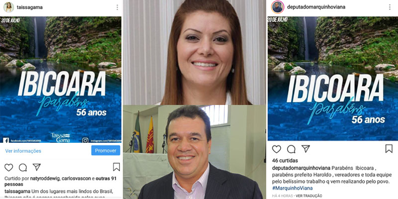 Chapada: Deputado comete plágio com imagem comemorativa do aniversário de Ibicoara