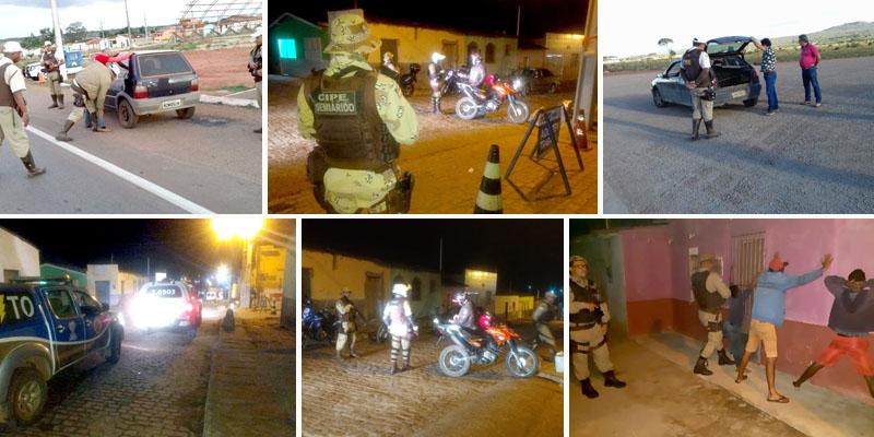 Chapada: 'Operação Impacto' é deflagrada em Morro do Chapéu; 140 pessoas abordadas e nove veículos apreendidos