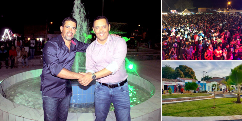 Chapada: Prefeito de Itaetê entrega nova praça em distrito e reúne multidão em final de semana de festa