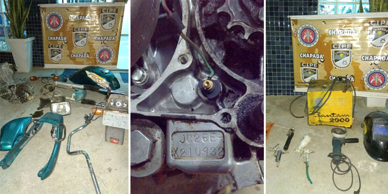 Chapada: Cipe recupera produtos roubados e descobre desmanche de veículos em Ruy Barbosa