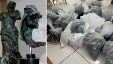Photo of Esculturas e meia tonelada de esmeraldas são apreendidas em ação da Polícia Federal na Bahia