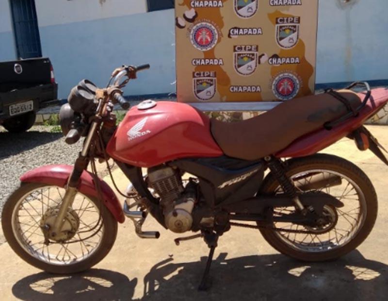 Chapada: Cipe apreende moto roubada e homem é detido no município de Iraquara