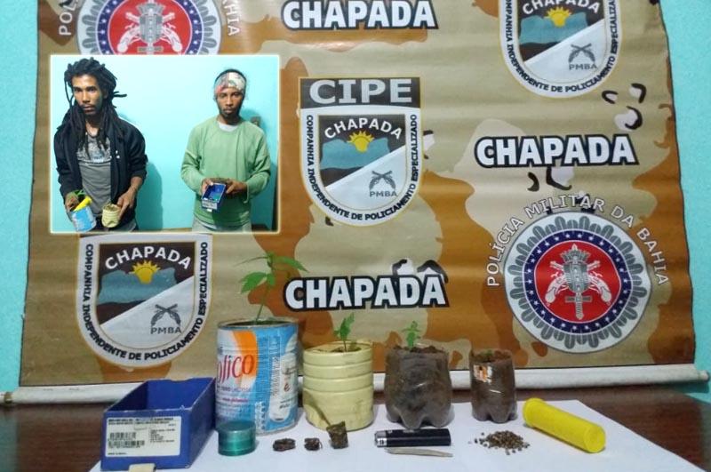 Chapada: Dupla é presa pela Cipe com maconha durante ação no município de Mucugê