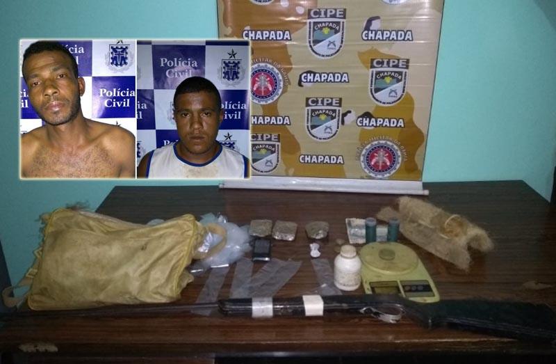 Chapada: Operação policial em Mucugê prende foragido da Justiça; drogas e arma de fogo são apreendidas