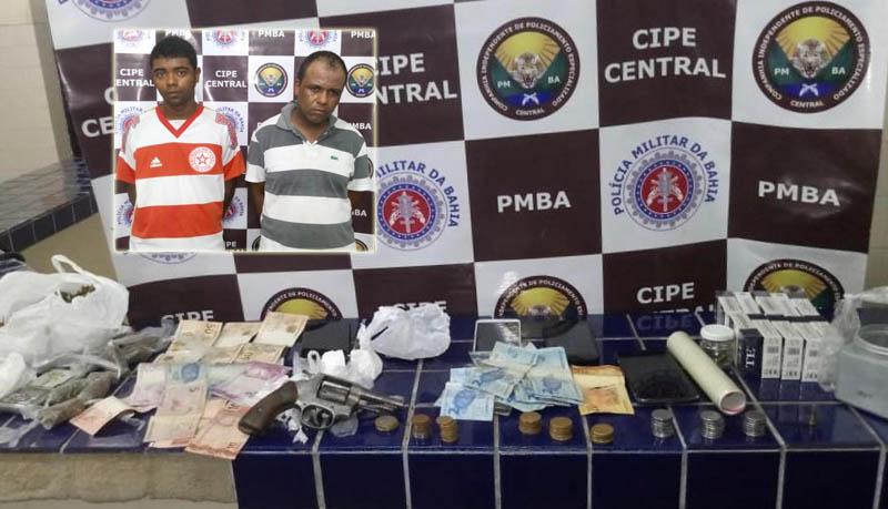 Chapada: Polícia prende dois homens em Ibicoara; um por tráfico de drogas e outro por posse ilegal de arma