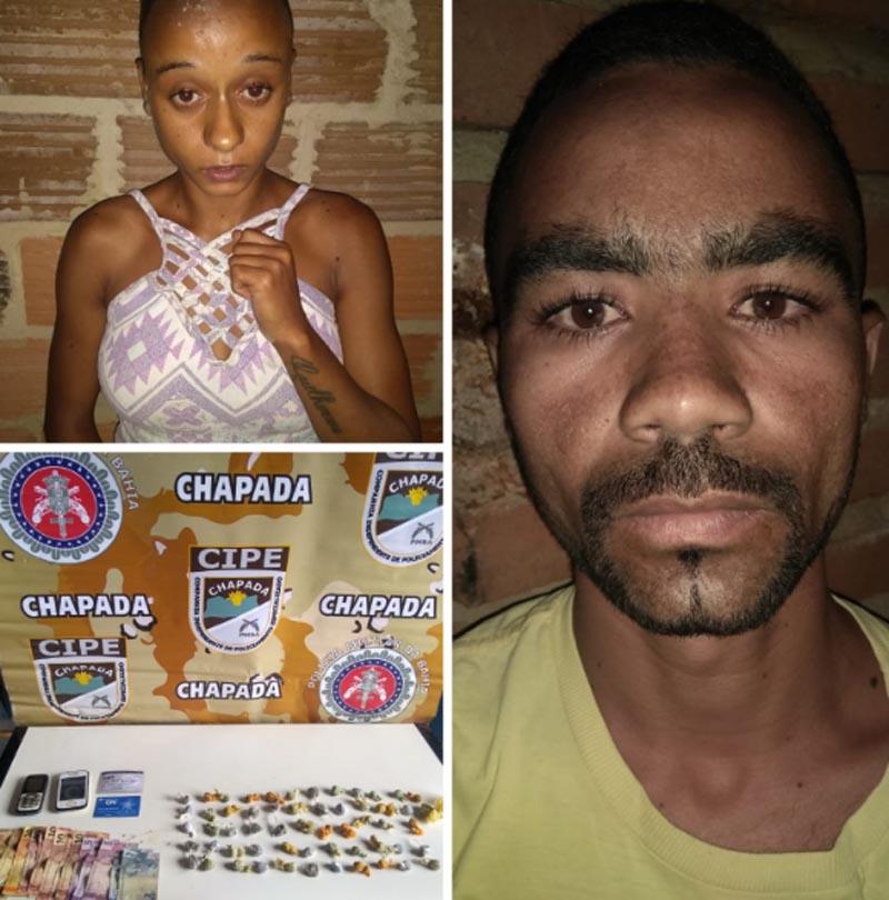Chapada: Ação da Polícia Militar prende casal de traficantes no município de Wagner