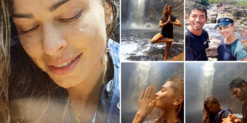 Chapada: Atriz e ex-BBB Grazi Massafera visita a cachoeira do Buracão em Ibicoara; veja fotos