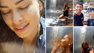 Photo of Chapada: Atriz e ex-BBB Grazi Massafera visita a cachoeira do Buracão em Ibicoara; veja fotos
