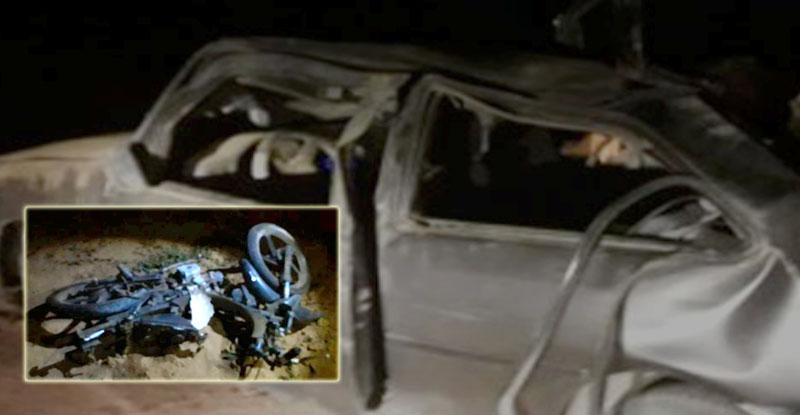 #Bahia: Três pessoas ficam gravemente feridas em acidente entre carro e moto na região de Ipirá