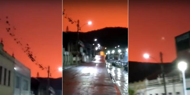 #Bahia: Céu alaranjado durante chuvas chama atenção de moradores de Campo Formoso; veja vídeo