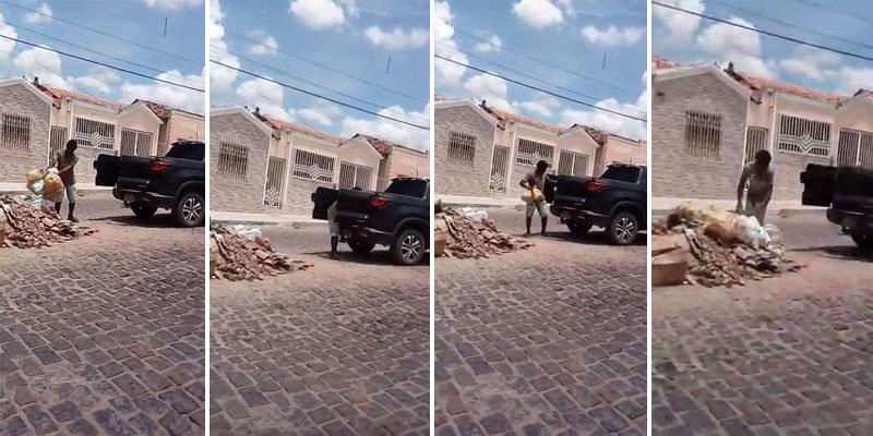 Chapada: Homem é flagrado jogando lixo na Avenida Getúlio Vargas em Itaberaba; carro pertence a ex-vereador