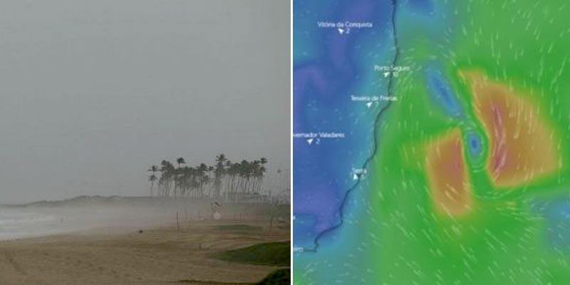 #Bahia: Ciclone não chega ao continente e auge deve acontecer nesta segunda; mau tempo permanece até terça