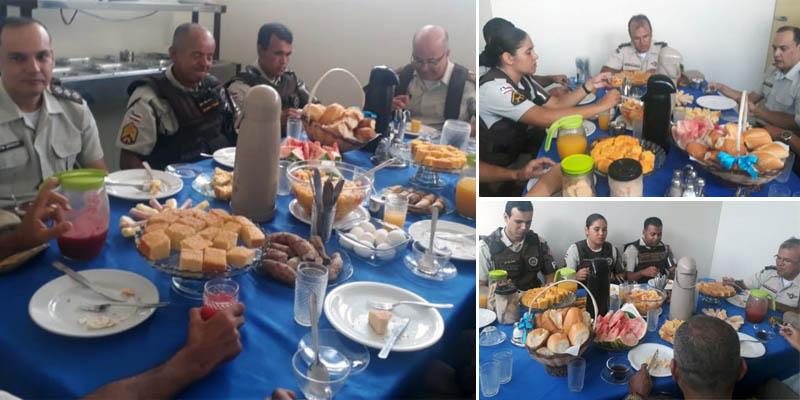 Chapada: Policiais militares de Itaberaba participam de café da manhã com comandante