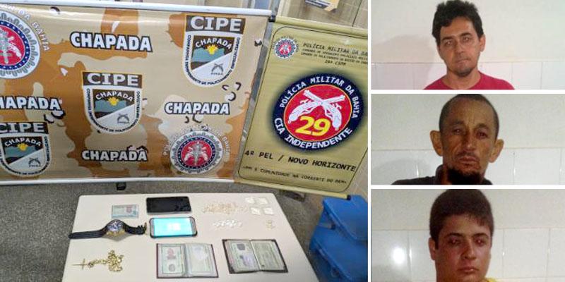 Chapada: Quadrilha envolvida com tráfico de drogas é desmontada durante operação em Novo Horizonte