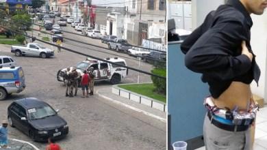 Photo of #Bahia: Funcionário de banco tem explosivos presos ao corpo por criminosos e família feita refém em tentativa de assalto