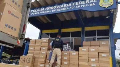 Photo of Chapada: PRF apreende carga de cigarro avaliada em quase R$800 mil na região de Seabra; veja vídeo