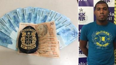 Photo of #Bahia: Polícia flagra homem com R$ 6 mil em notas falsas no município de Feira de Santana