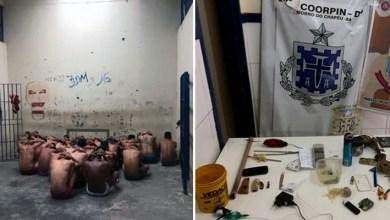 Photo of Chapada: Revista em celas de delegacia do município de Morro do Chapéu encontra drogas e celular