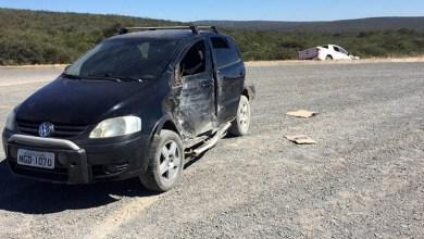 Photo of Chapada: Três pessoas ficam feridas por causa de acidente em trecho da 'Estrada do Feijão' em Morro do Chapéu