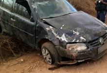 Photo of Chapada: Veículo capota com cinco pessoas em estrada de distrito do município de Jacobina