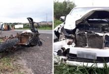 Photo of #Bahia: Grave acidente mata três pessoas da mesma família; moto foi atingida por caminhonete