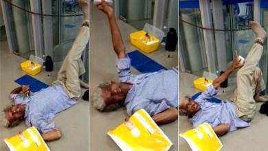 Photo of #Polêmica: Após se desentender com gerente, ex-prefeito baiano se acorrenta em porta de banco; veja vídeo