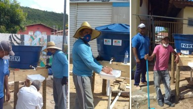 Photo of #Chapada: Pias com caixas d'água em locais públicos ajudam a combater o coronavírus em Itaetê