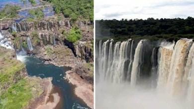 Photo of #Fotos: Período sem chuvas no oeste do Paraná deixa as Cataratas do Iguaçu irreconhecíveis