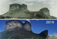 Photo of #Chapada: Montagem compara a região do Morro do Pai Inácio em duas imagens com diferença de 57 anos