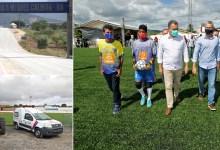 Photo of #Chapada: Recuperação de estrada e gramado sintético de estádio foram inaugurados por Rui em Miguel Calmon