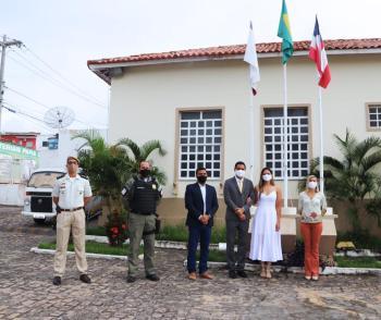 As autoridades locais participaram do ato cívico em homenagem ao 7 de setembro | FOTO: Divulgação/PMI |