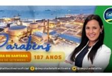 Photo of #Polêmica: Deputada do PSL é criticada por arte em homenagem a Feira de Santana com mar de fundo