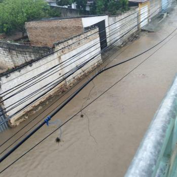 Ruas alagadas em Piritiba | FOTO: Reprodução |