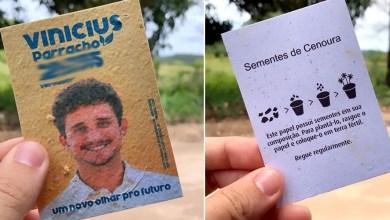 Photo of #Eleições2020: Candidato a vereador de Porto Seguro utiliza santinho com sementes e informações de plantio