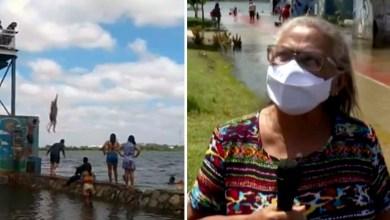 Photo of #Bahia: Idosa de 71 anos realiza o sonho de pular de torre no Rio São Francisco em Juazeiro; veja vídeo
