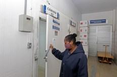 Câmara fria do Centro Estadual de Armazenamento de Imunobiológicos. Onde ficarão guardadas metade das vacinas enviadas para Bahia - Fotos Fernando VivasGOVBA (2)